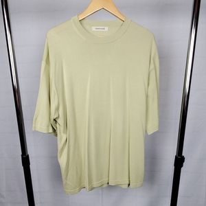 Men's 100% Silk Crewneck Short Sleeve Sweater - XL